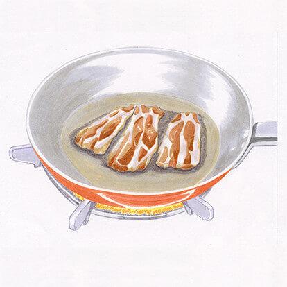 黒豚バラ・トントロみそ漬けの手順1