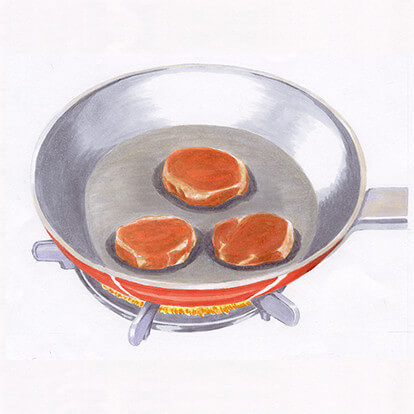 黒豚ヒレステーキの手順1